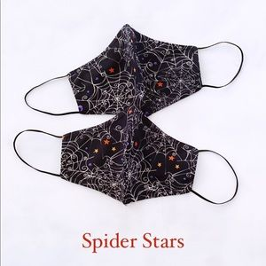 Halloween spider stars face mask